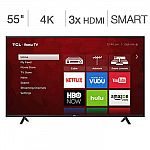 "TCL 55"" 55S403 4K Ultra HD Roku LED LCD TV $370"