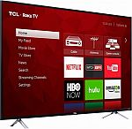 "55"" TCL 4K UHD HDR Roku Smart LED HDTV $400"