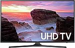 "55"" Samsung UN55MU6300 4K Ultra HD Smart TV (2017) + $200 Dell Gift Card - $700"