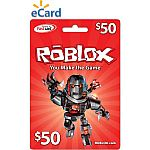 $50 Roblox Gift Card (Email Delivery) $40.50