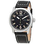 CITIZEN Eco-Drive Chandler Men's Leather Watch (BM8471-01E) $90