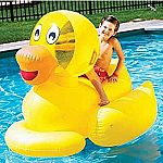 Giant Ducky Inflatable Ride-On $8.96 (Prime Only)
