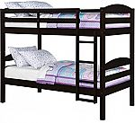 Twin Wood Bunk Bed with 2 BONUS Mattresses $179 (Save $200)