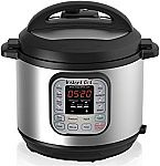 Instant Pot IP-DUO60 Stainless Steel 6-Quart 7-in-1 Multi-Functional Pressure Cooker $60
