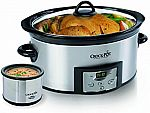 Crock-Pot 6-Qt Countdown Programmable Oval Slow Cooker with Dipper $28