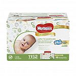 Huggies Natural Care Plus Baby Wipes 1,152-count $20