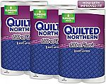 24-Count Quilted Northern Ultra Plush Septic-Safe Supreme 3-Ply Toilet Paper Rolls $17.64
