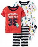 Carter's Baby Boys or Baby Girls - 4-Piece Pajama Sets $7.56, Baby T-Shirts $2.56 and More