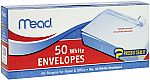 50-Count Mead #10 Press-It Seal-It Envelopes $1.59