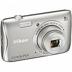 Nikon COOLPIX S3700 Digital Camera (Manufacturer refurbished) $65