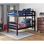 Better Homes and Gardens Leighton Twin Over Twin Bunk Bed with 2 BONUS Mattresses $189