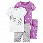 Carter's 4-pc. Tee & Shorts Pajama Set (Various Styles) $4.76 (Kohls Card Req'd)
