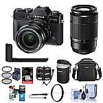 Fujifilm X-T20 Mirrorless Camera with XC 16-50mm / XC 50-230mm Lens W/Acc Bundle $1,199