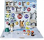 Paw Patrol Advent Calendar with 24 Collectible Plastic Figures $25