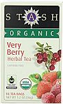 108-Count Stash Tea Organic Very Berry Herbal Tea $4.60