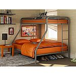 Dorel Twin-Over-Full Metal Bunk Bed $67