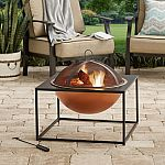 """26"""" Square Fire Pit with Copper Finish Bowl $35 (Was $80) + Free Shipping"""