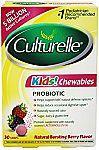 30-count Culturelle Kids Chewables Daily Probiotic Formula $12.87