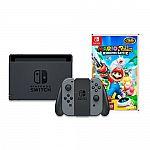 Nintendo Switch with Gray Joy-Con & Mario + Rabbids Kingdom Battle $340