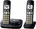 Panasonic Cordless Phone with Answering Machine (2 Handsets) $36 (Was $60)