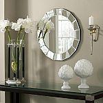 allen + roth Beveled Round Frameless Wall Mirror $45, YMMV