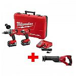 Milwaukee 18-Volt Cordless Hammer Drill/Impact Combo Kit $329 (38% Off) & More
