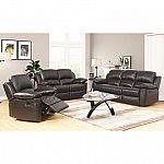 Terranova Top-Grain Leather Reclining Sofa, Loveseat and Armchair Set $1999
