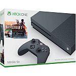 Microsoft Xbox One S (500GB) Battlefield 1 Special Edition Bundle  $199.96