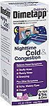 3-Pack Dimetapp Children's Nighttime Cold & Congestion Antihistamine/Cough Suppressant & Decongestant (Grape Flavor, 4oz) $7