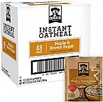 48-Count Quaker Instant Oatmeal (Maple Brown Sugar) $8 (Prime Only)