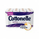 3 x 36-Rolls Cottonelle CleanCare Family Roll Toilet Paper $40.97