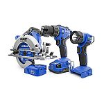 Kobalt 4-Tool 24-volt Max Lithium Ion Cordless Combo Kit $149