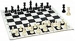 Best Value Tournament Chess Set - Filled Chess Pieces and Black Roll-Up Vinyl Chess Board $9 (Save 57%)