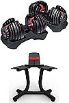 Bowflex SelectTech 552 Adjustable Dumbbells (Pair) and Stand Bundle $299.99