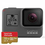 GoPro HERO6 Black Camera with 32GB SD Card $400 + Get $40.00 in Reward Dollars