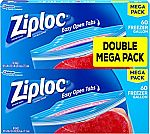 120-Count Ziploc Freezer Bags, Gallon $8.69