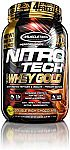 MuscleTech NitroTech Whey Gold 100% Pure Protein 2.24 lbs (3X for $27.55)