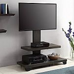 Whalen 2 Shelf TV Stand with Mount for TVs up to 50'' $49