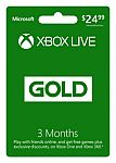 3-Month Xbox Live Gold Membership + 3 Months of Xbox Live + Rocket League $25