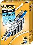 36Ct BIC Round Stic Grip Xtra Comfort Ball Pen $2.85