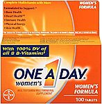 One-A-Day Women's Multivitamin, Tablets 100-Count $4