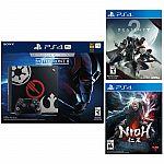 PlayStation 4 Pro 1TB Star Wars Battlefront II Bundle + Destiny 2 + Nioh $449