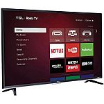 "TCL 55"" Class 4K (2160P) Roku Smart LED TV $242 (Refurbished)"