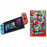 Nintendo Switch Gaming Console with Super Mario Odyssey Game Bundle $355
