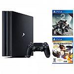 Playstation 4 Pro 1TB Console + Destiny 2 + Overwatch $399.99