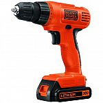 BLACK+DECKER 20-Volt MAX Lithium Ion Cordless Drill $15 and more + Pickup only (YMMV)