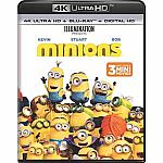 Despicable Me, Despicable Me 2, Minions (4K Ultra HD + Blu-ray + Digital HD) $9.99
