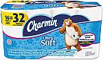 16-Roll Charmin Ultra Soft Bathroom Tissue (2-Ply) $14 (Lowest Price!)