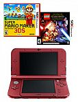 """Nintendo """"NEW 3DS XL"""" Console (Refurbished) + Super Mario Maker 3DS + LEGO Star Wars: The Force Awakens (Pre-Owned) $130"""