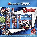 Oral-B and Crest Kids Marvels Avengers Holiday Pack (3X Toothbrush + 2X 4.2-oz Toothpaste) $4.11 (add-on)